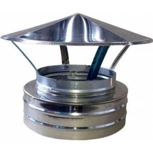 Зонт-наконечник на дымоходную трубу из нержавейки диаметр 150мм
