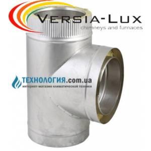 Тройник  из нержавеющей стали с термоизоляцией в оцинкованном кожухе  90°, Ø 100мм.