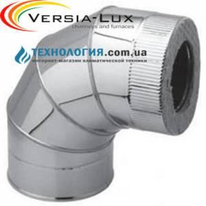 Колено из нержавеющей стали с термоизоляцией в оцинкованном кожухе  90°, Ø 300мм.