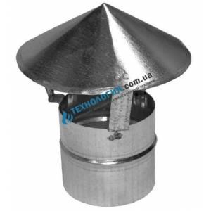 Зонт-наконечник на дымоходную трубу жестяной диаметр 100мм