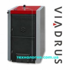 Котел твердотопливный Viadrus VIA U22/4 С (4 секции,23 кВт) в комплекте с терморегулятором