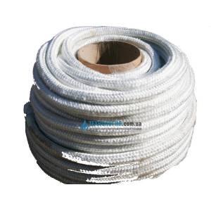 Шнур из стекловолокна, уплотнительный для уплотнения элементов твёрдотопливного котла d15 мм