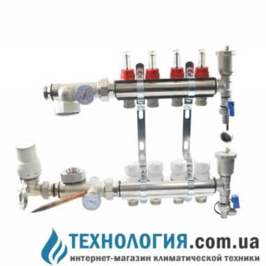 Хромированный коллектор  SD на 8 выходов с бесплатной доставкой по Украине
