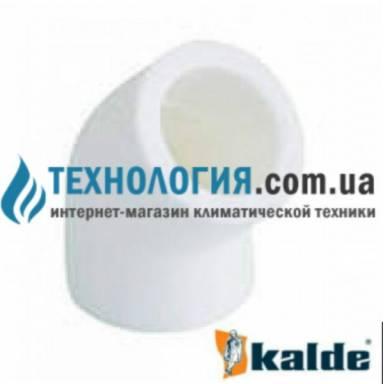 Белый уголок (колено) Kalde 45 гр. диаметром 20мм