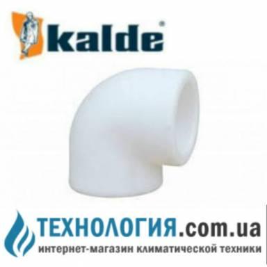 Белый уголок (колено) Kalde 90 гр. диаметром 20мм