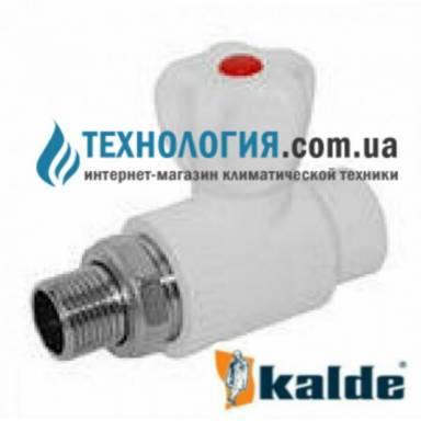 """Радиаторный шаровый кран Kalde  20x1/2"""" прямой белый, КБП"""