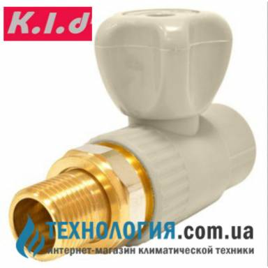 """Радиаторный шаровый кран K.l.d  20x1/2"""" прямой, КБП"""