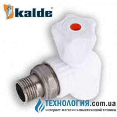 """Радиаторный шаровый кран Kalde  20x1/2"""" угловой белый, КБУ"""