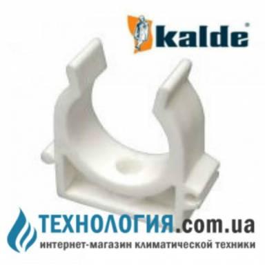 Одинарное крепление для труб Kalde *U* - типа диаметр 32 мм, цвет белый
