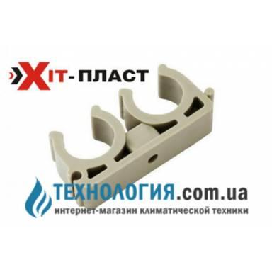 Двойное крепление для труб Xit-plast U типа диаметр 20 мм