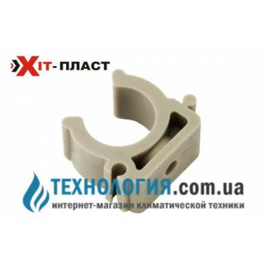 Одинарное крепление для труб Xit-plast U типа диаметр 20 мм