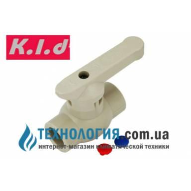 Кран шаровый K.l.d с стальным шаром 20 мм