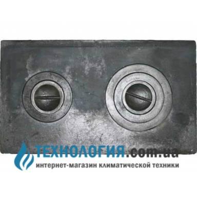 Чугунная плита 2-х комфорочная, литье земля