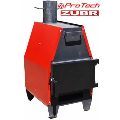 """Печь для отопления помещений Протеч """"Зубр"""" ПДГ-15 кВт на твердом топливе,обогрев до 270 метров кубических"""