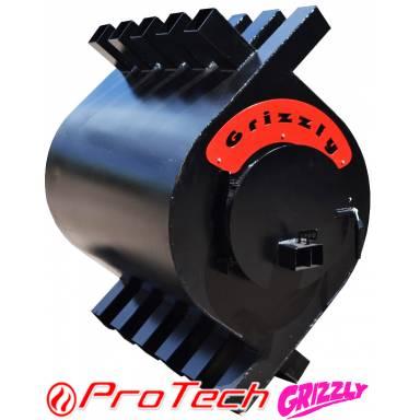 Печь отопительная конвекционная-типа Булерьян Grizzly-мощность 12 кВт, объём отапливаемого помещения до 200 м³(метров кубических)