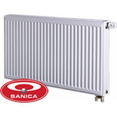 Стальной радиатор панельный SANICA,22 типа,500х500 ,нижнее подключение,высота 500 мм,мощность 965 вт,с двумя нагревательными панелями