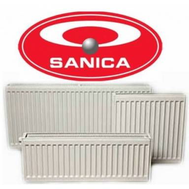 Стальной радиатор панельный SANICA,33 типа,500х1000 ,боковое подключение,высота 500 мм,мощность 2754 вт,с тремя нагревательными панелями