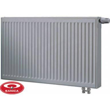 Стальной радиатор панельный SANICA,22 типа,500х1000 ,нижнее подключение,высота 500 мм,мощность 1929 вт,с двумя нагревательными панелями