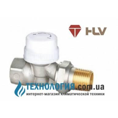 Радиаторный термостатический кран HLV прямой 1/2