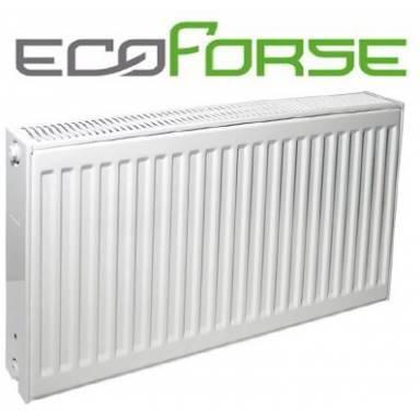 Стальной радиатор панельный EcoForse,тип 22,500х1000 ,боковое подключение,высота 500 мм,мощность 1929 Вт,двух рядный
