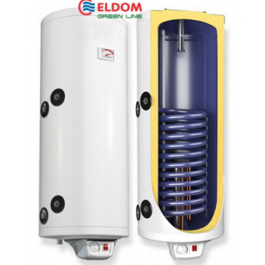 Eldom Green line 80 Slim комбинированный електрический водонагреватель 2 кВт дополнительный теплообменник 0.49 m2