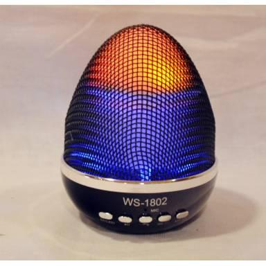 Колонка WSTER WS-1802 яйцо фаберже FM, USB, MP3, AUX, Micro SD