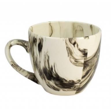 Керамические чашки «Одесса» радуга черная на 200 мл. от 6 шт комплект