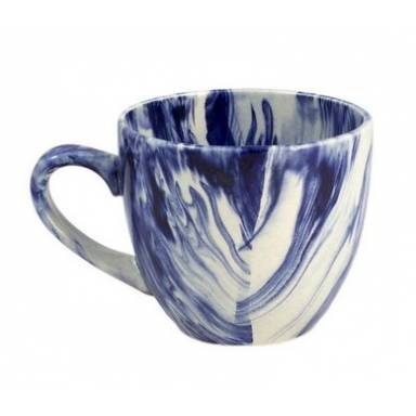 Керамические чашки «Одесса» радуга кобальт на 200 мл. от 6 шт комплект