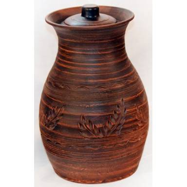 Крынка глиняная ручной работы обьем 3 л арт.0043
