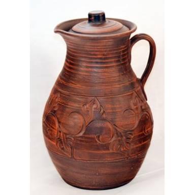 Кувшин глиняный ручной работы обьем 3 л арт.0042