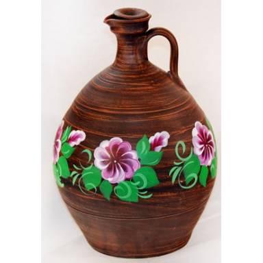 Кувшин винный ручной работы с росписью обьем 3 л арт.0094