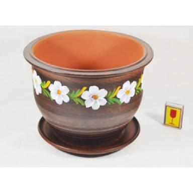 Цветочный горшок Цветочник шамот высота 18 см арт.0091 глиняный ручной работы