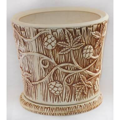 Цветочный горшок Хмель большой шамот высота 32 см глиняный ручной работы