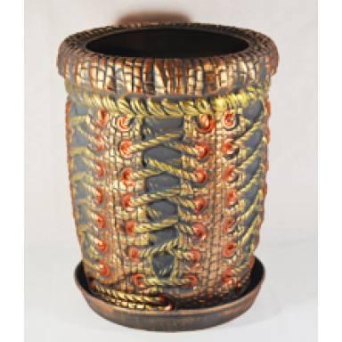 Цветочный горшок Корсет высокий акрил высота 36 см арт.110 глиняный ручной работы