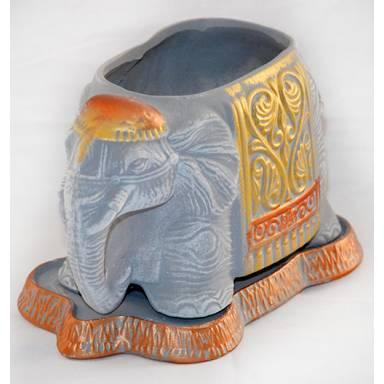 Цветочный горшок Слоник акрил высота 16 см глиняный ручной работы