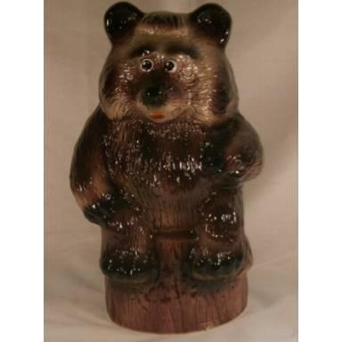 Садовая фигура Медведь большой высота 43 см глиняная ручной работы