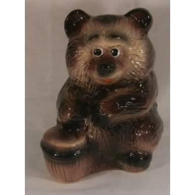 Садовая фигура Медвежонок высота 30 см глиняная ручной работы