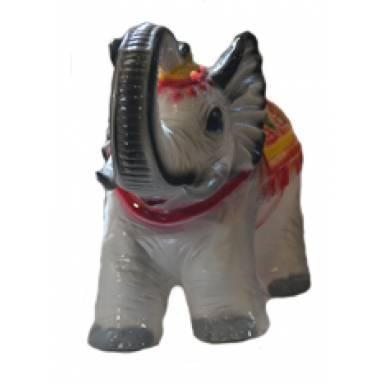 Садовая фигура Слон сувенир высота 35 см глиняная ручной работы