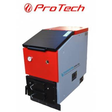 """Твердотопливный котел длительного горения """"ProTech TT-30 ЭКО Long""""(модель 2015 года),верхняя загрузка,охлаждаемые колосники,возможность установки турбины и блока управления,нижнее горение,мощность 30 кВт,сталь 3 мм"""