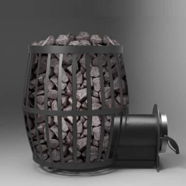 Твердотопливная печь VESUVI для использования в парилках саунах банях ПКБ - бочка 02 площадь обогрева 20 куб.