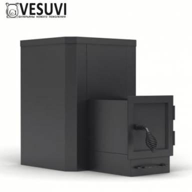 Твердотопливная печь для использования в парилках саунах банях VESUVI ПКБ-Б(к) площадь обогрева 20-30 куб.