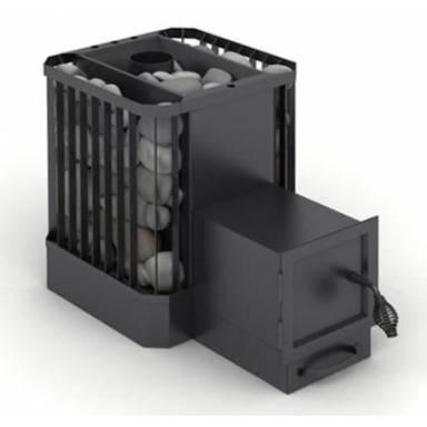Твердотопливная печь для использования в парилках саунах банях VESUVI ПКБ-Б р площадь обогрева 20-30 куб.