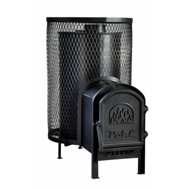 Печь без выноса Свит Саун PAL PR-50L на дровах для бани и сауны с чугунной дверкой