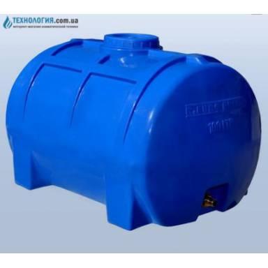 Емкость объемом 100 литров однослойная в горизонтальном исполнении