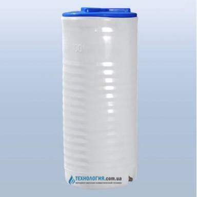 Емкость объемом 100 литров однослойная в вертикальном исполнении