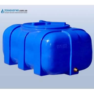 Емкость объемом 100 литров в овальном исполнении