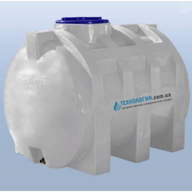 Емкость объемом 1000 литров однослойная в горизонтальном исполнении