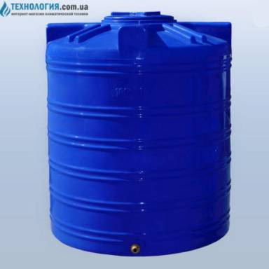 Емкость объемом 1000 литров двухслойная в вертикальном исполнении