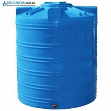 Емкость объемом 1000 литров однослойная в вертикальном исполнении