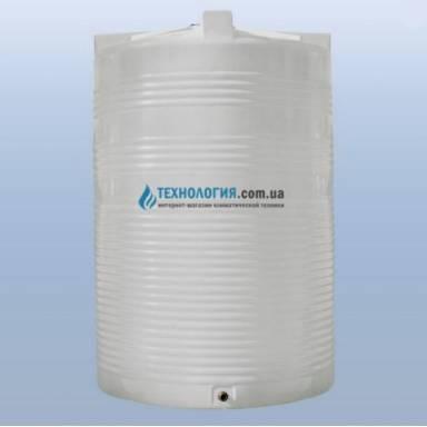 Емкость объемом 10000 литров однослойная в вертикальном исполнении